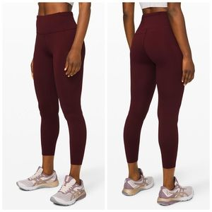 "Lululemon | Fast and Free Tight II 25"" Sz 12"